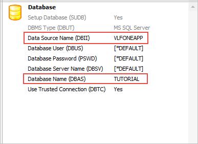 Define Database Settings